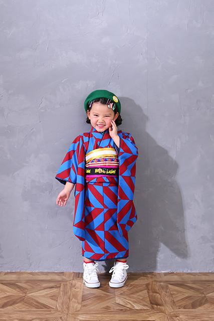 オリジナル 青・赤幾何学柄の衣装画像1