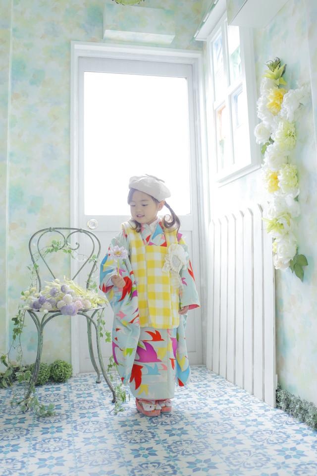 ハンドメイド着物3才 女の子の衣装画像1