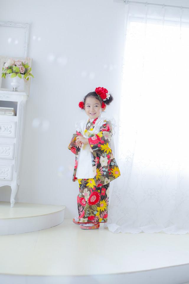 ハンドメイド着物3才 女の子の衣装画像2