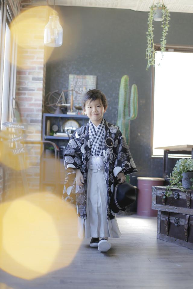 ハンドメイド着物5才 男の子の衣装画像1