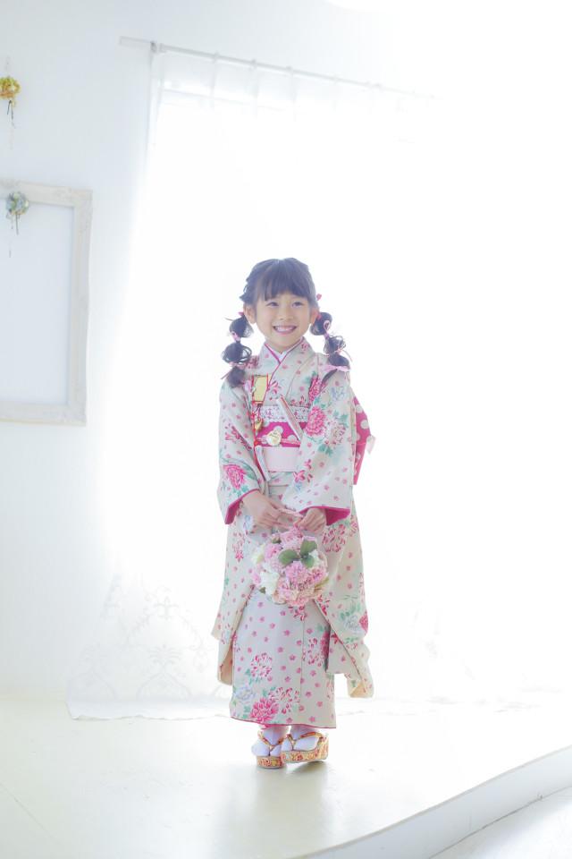 ハンドメイド着物7才 女の子の衣装画像1