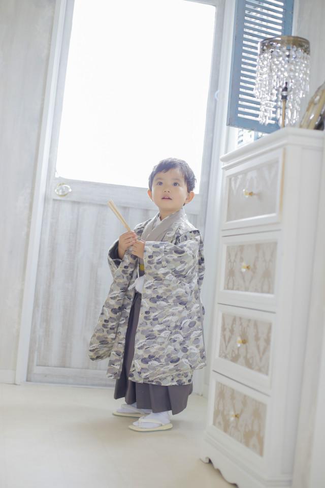 ハンドメイド着物3才 男の子の衣装画像1