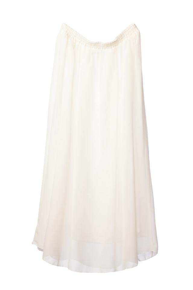 マタニティスカート ホワイトの衣装画像1