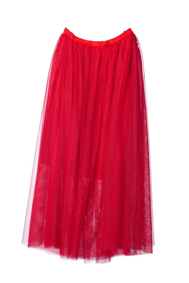 マタニティスカート レッドの衣装画像1