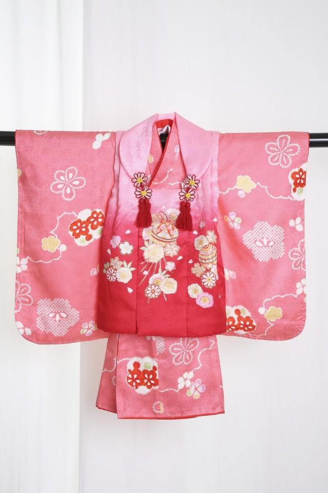 新作正絹3歳着物の衣装画像1