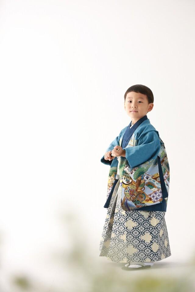 5歳男の子 定番和柄の衣装画像1