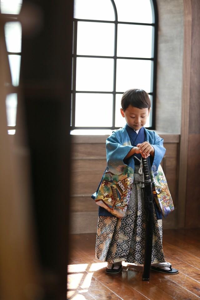 5歳男の子 定番和柄の衣装画像2