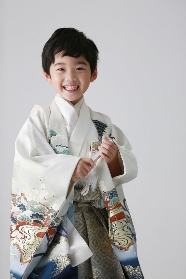 5歳男の子 白羽織の衣装画像1