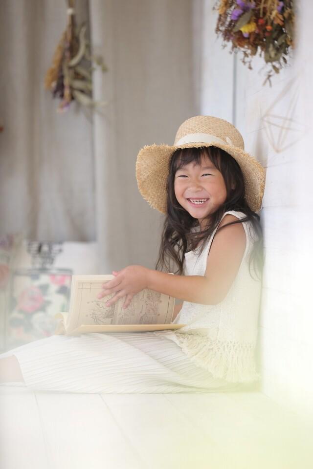 7歳女の子 緑モダン柄の衣装画像3