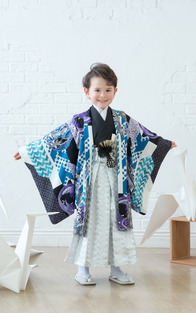 5歳用羽織袴の衣装画像1