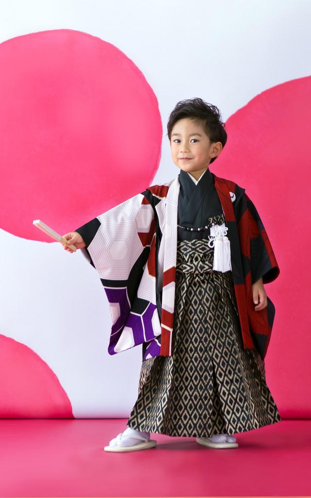 3歳用羽織袴の衣装画像1