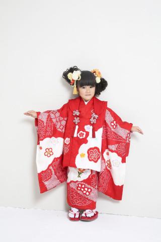 新作高級正絹お仕立て三歳着物 日葵