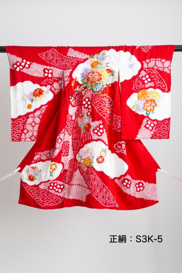 新作高級正絹お仕立て三歳着物 日葵の衣装画像2