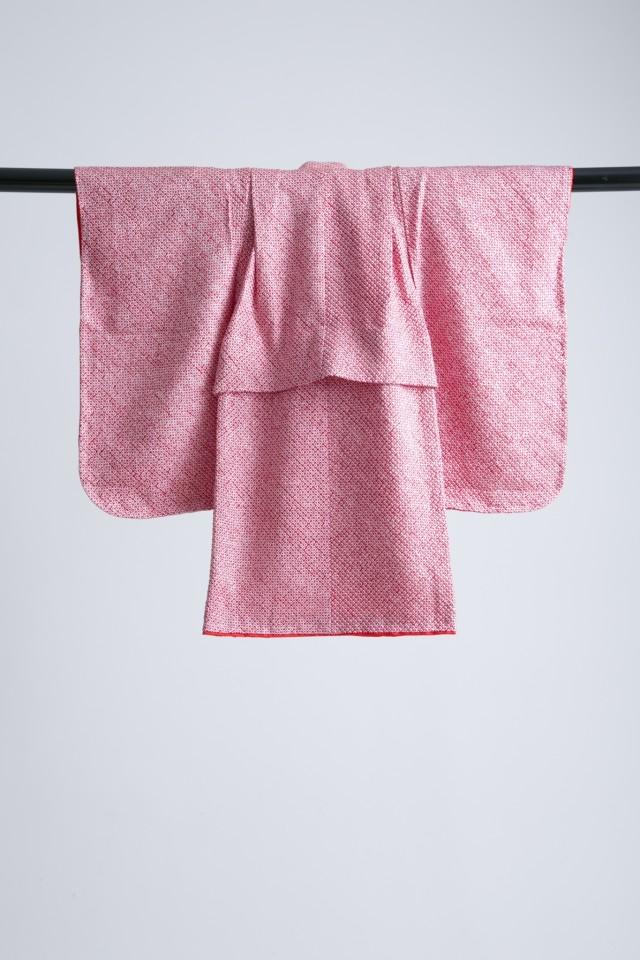 新作高級正絹総絞り 3歳お被布着物 日葵の衣装画像2
