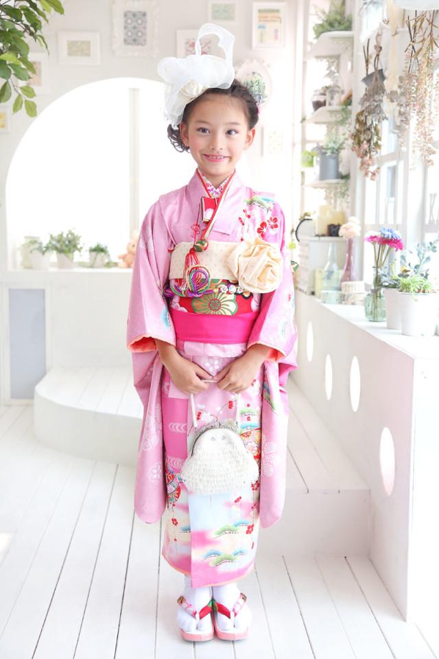 ピンクのお着物の衣装画像1