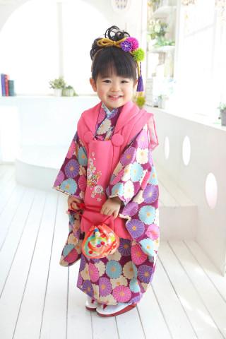 紫のお着物