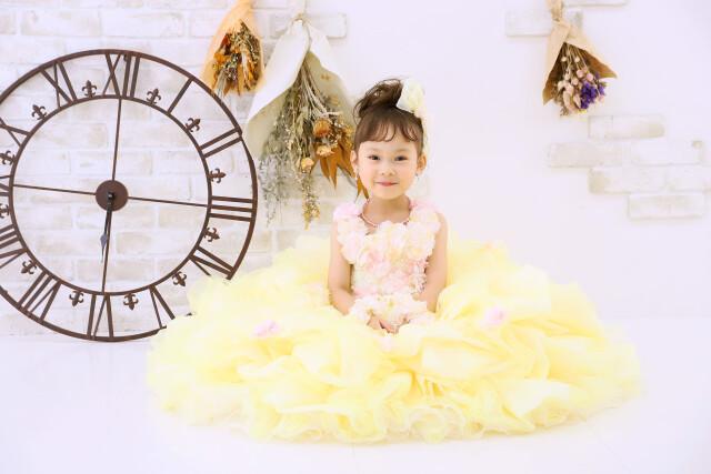 3歳女の子:YELLOWドレスの衣装画像2
