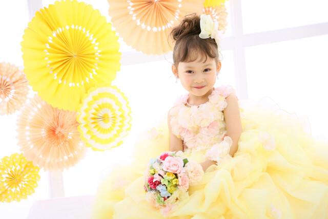 3歳女の子:YELLOWドレスの衣装画像3