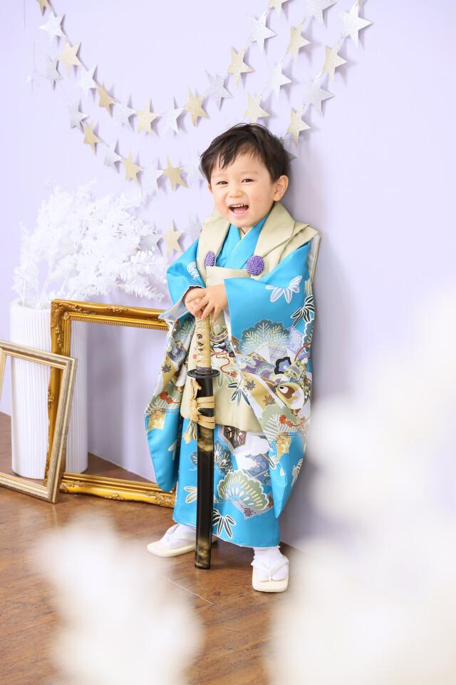 3歳男の子:ベージュ被布の衣装画像1