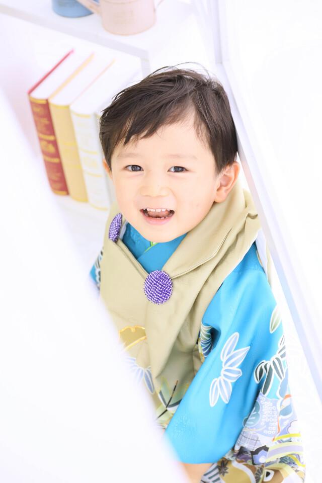 3歳男の子:ベージュ被布の衣装画像2