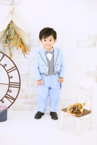 No.5772 3歳男の子:水色タキシード