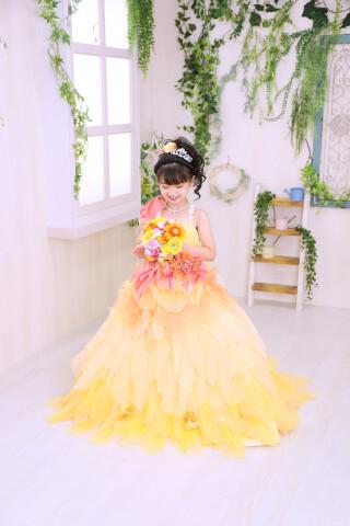 No.5782 7歳女の子:オレンジドレス