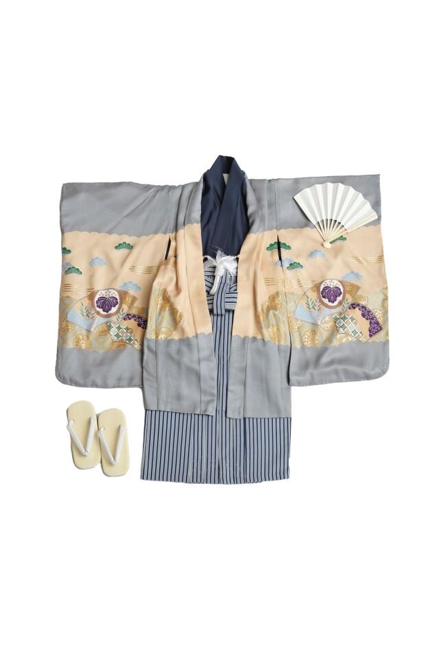 高級正絹5歳羽織袴セット【芝公園・港区本店スタジオ】の衣装画像1
