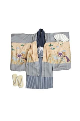 No.5792 高級正絹5歳羽織袴セット【芝公園・港区本店スタジオ】